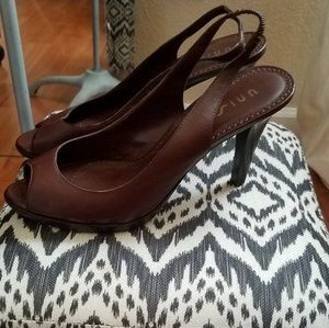 Burgandy slingback heels Unisa New Condition $29